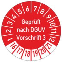 DGUV Prüfplakette