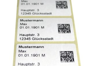 Adressen-Etikett