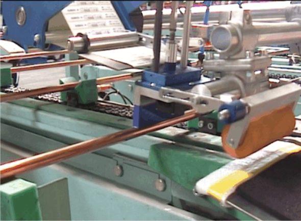 Kupferrohr-Kennzeichnung