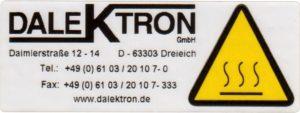 Technik-Etikett
