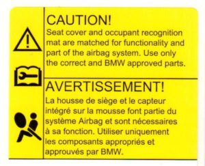 Automobil-Etikett