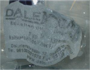 Wasserlösliches Etikett