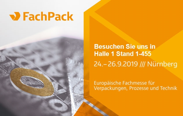 FachPack 2019 Halle 1 Stand 1-455