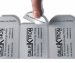 Etikett mit Preisabrisslasche